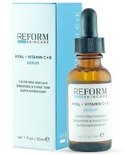 hyal vitamin c+e reform skincare